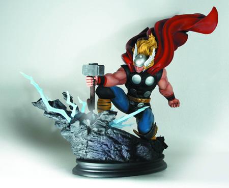 Thor Smashing Hammer Statue