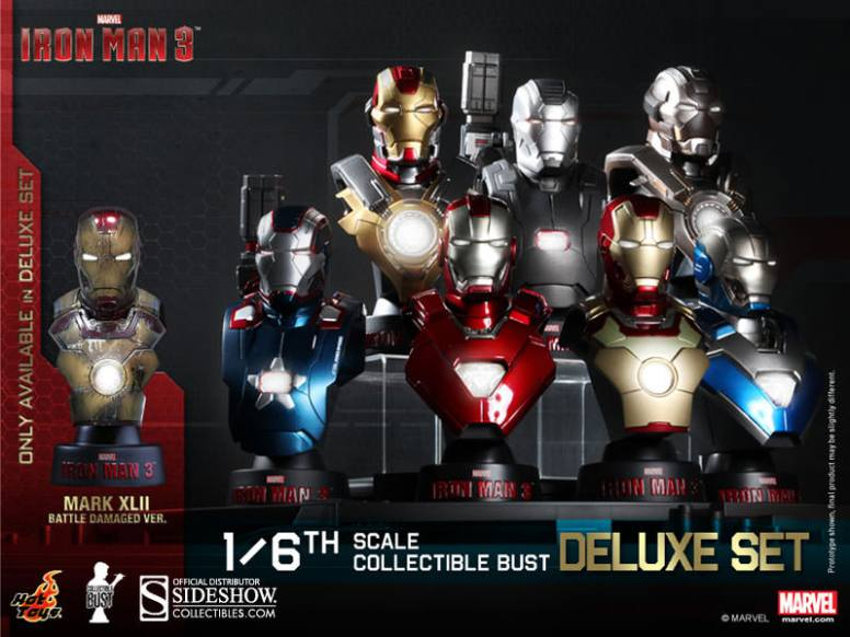 Iron Man 3  Bust Statue Hot Toys Collection