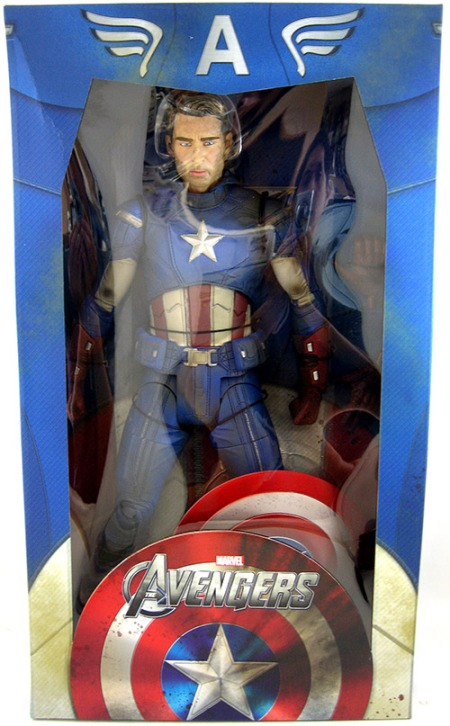 Battle Damaged Movie Captain America 18 inch Figure